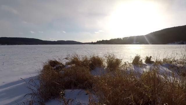 Time lapse video of frigid Cayuga Lake.