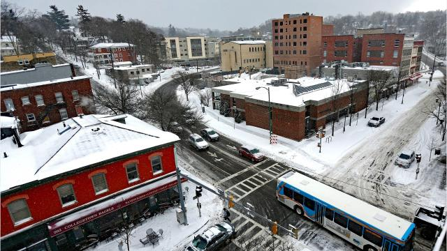 Winter weather created difficult travel conditions for motorists on January 13, 2018.