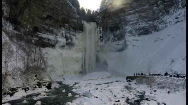 Taughannock Falls, near Ithaca, is the tallest waterfall east of the Mississippi.