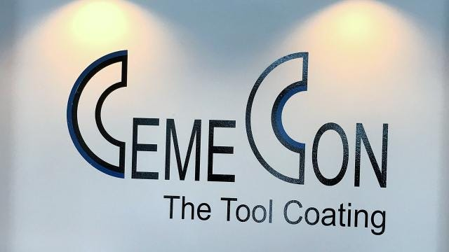 CemeCon Inc. makes durable coatings for cutting and drilling tools.