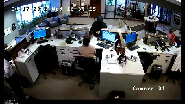 CFCU Community Credit Union was robbed at gunpoint. The male who robbed the bank fled in a northeasterly direction on Sheraton Drive.