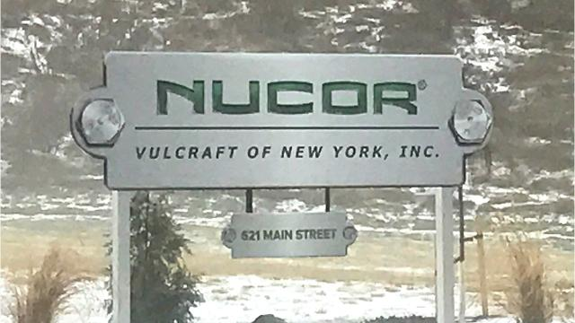 U.S. Rep. Tom Reed says the tax package will provide a big boost to manufacturing companies like Vulcraft of New York.