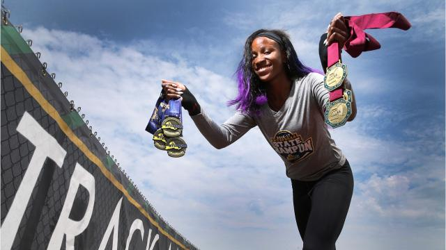 Lanae-Tava Thomas is a senior track star at Rush-Henrietta High School with Olympic dreams. All information is courtesy of the Rochester Democrat and Chronicle.