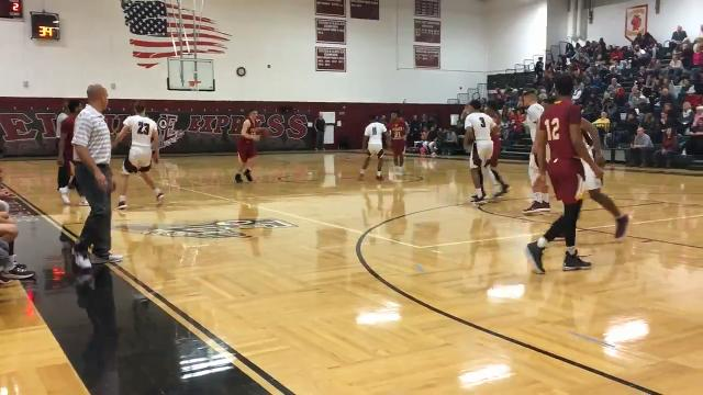 Elmira's defense came up big against the Little Red in a key STAC West meeting Feb. 6 at Elmira High School.