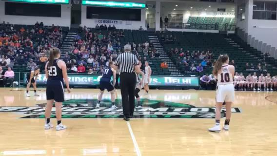 B-G versus Delhi for MAC girls basketball championship at BU's Events Center.