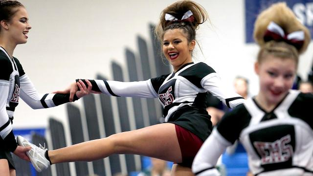 Southern Tier schools -- including Elmira, Binghamton, Horseheads, Vestal, Owego and Johnson City --compete for 2018 STAC Winter Cheerleading Championship.