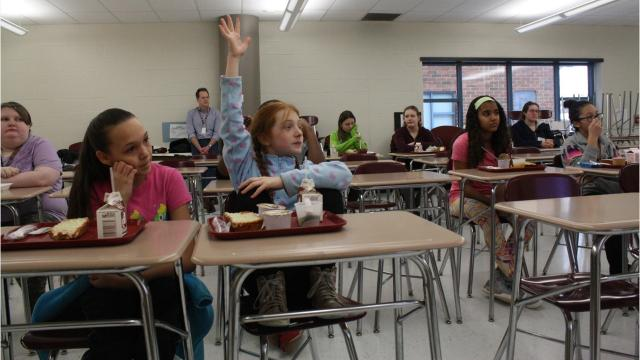 """Johnson City Middle School began offering """"Career Fridays"""" to all middle school students in January."""