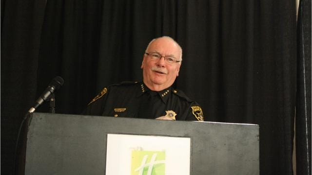 Broome County Sheriff David Harder spone about a decrease in Narcan while speaking at the Binghamton Rotary Club's meeting Tuesday.