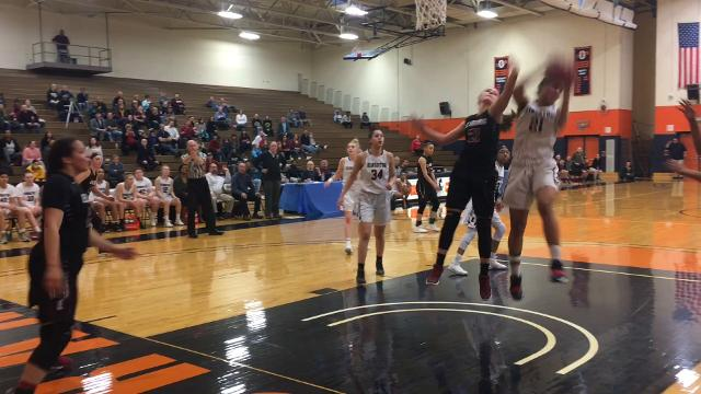 Elmira was an 80-48 winner over Kingston in a Class AA regional semifinal March 6 at Orange County Community College in Middletown.
