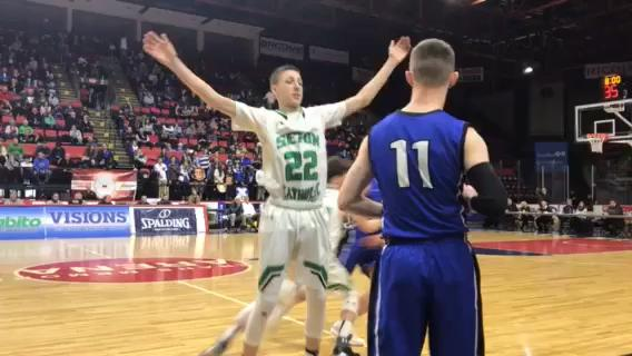 Seton CC vs. Westhill in Class B state basketball quarterfinal.