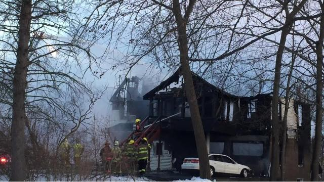 Firefighters responded late Thursday to a fast-moving blaze on Watson Boulevard.