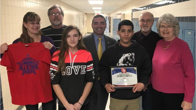 Senator Fred Akshar recognized a new batch of Akshar's All-Stars in both January and February.