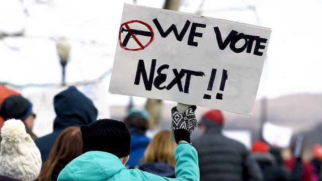 March For Our Lives in Corning, NY: 500 gather in front of Rep. Tom Reed's office to call for gun reform