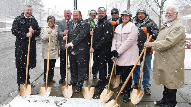 New York State Department of Transportation broke ground on a $7.2 million project in Watkins Glen, Schuyler County. The project includes Rt. 14 paving, new sidewalks, traffic lights and historical signs.