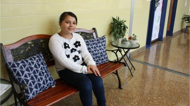Two benches have been set aside for students at Binghamton's Horace Mann Elementary School to serveasa quiet place of reflection for students to gather their thoughts if they are having a difficult time in the classroom.