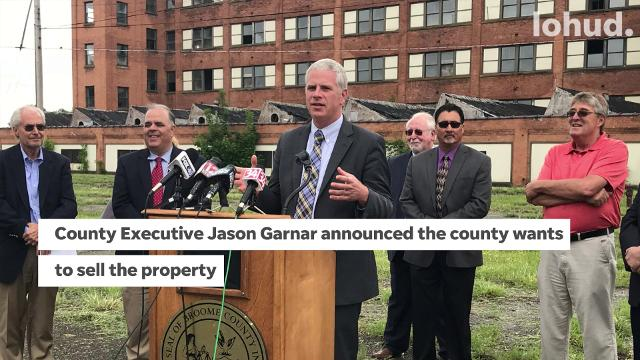 Broome County has proposed the sale of a former Endicott Johnson factory and property in Johnson City to National Pipe and Plastics Inc.