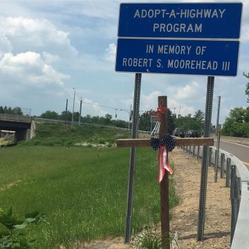 Roadside memorials commemorate victims of deadly crashes