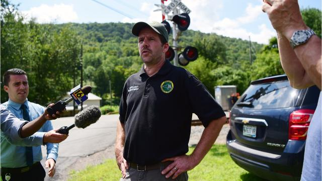 New York Department of Conservation Director of Emergency Management, Matt Franklin, says Deposit train derailment clean-up will take at least a week.