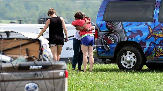 After Phish announced on Thursday evening that the three-day Curveball Festival was cancelled due to health concerns, thousands of disappointed fans, vendors and workers spend Friday morning vacating Watkins Glen International.
