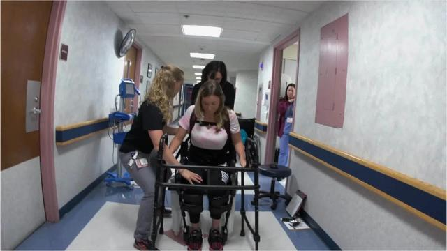 Video: Watch how bionic suit helped Owego nurse walk again