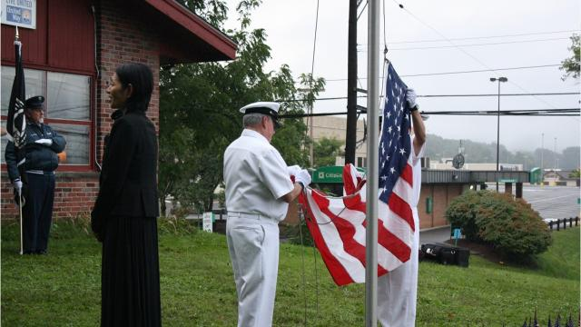 A memorial ceremony was held at the United Way of Broome County in Vestal Tuesday morning to commemorate the 17th anniversary of the 9/11 terror attacks.