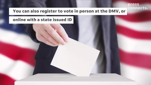 How to register to vote in the general election.