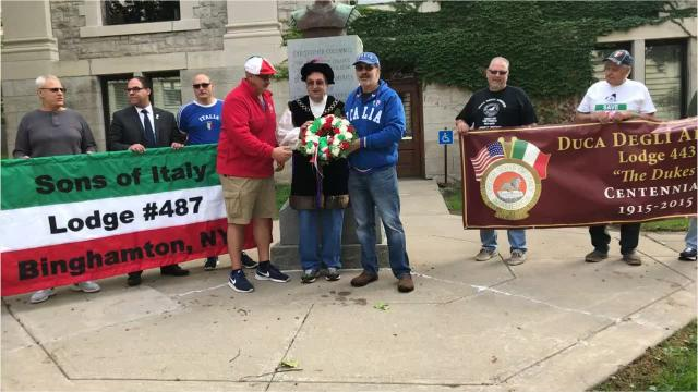 The Columbus Day Parade, Tournament of Marching Bands and Italian Festival was held in Downtown Binghamton Monday to commemorate Columbus Day.
