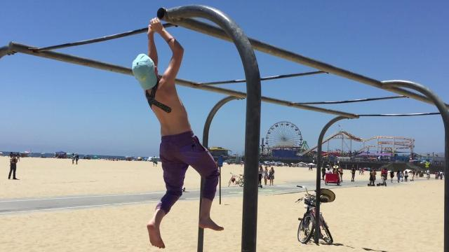 Evan Wenzinger, 13, competed in American Ninja Warrior Junior, airing on Universal Kids.