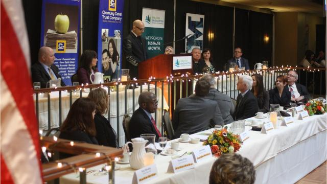 The Greater Binghamton Chamber of Commerce hosted the 22nd Annual  Community Thanksgiving Luncheon Tuesday afternoon at The McKinley in Endicott.