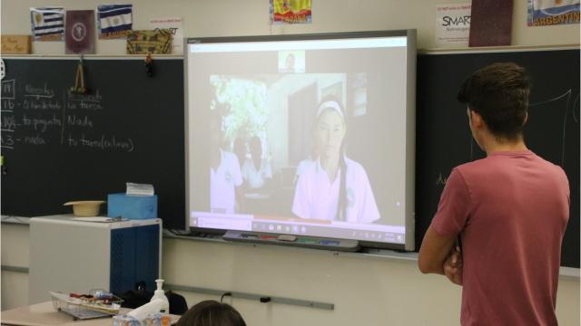 Johnson City High School teacher Magdala Bedrin has connected her high schoolerswith students inLoma de Piedra, a schoolinBarranquilla, Colombia.