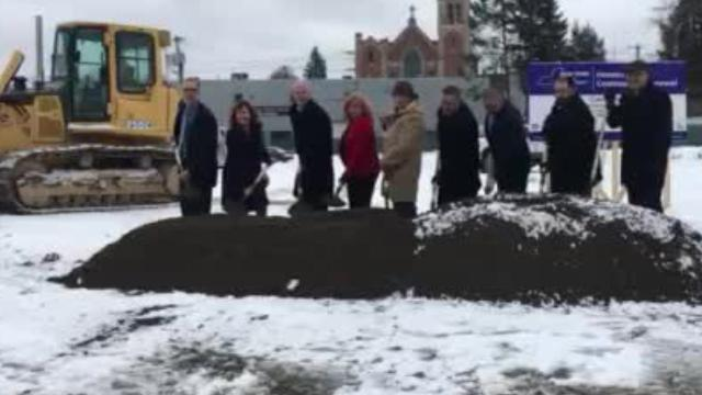 Binghamton broke ground on a new housing development on the North Side. When complete it will have 48 affordable apartment units and 15,000 square feet of commercial space.