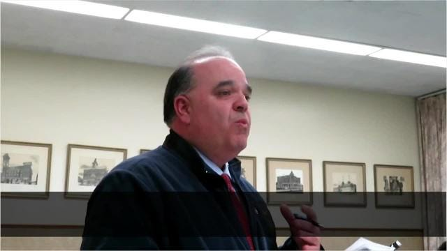 Thomas Augostini, Town of Union council member, raises objections to a payment-in-lieu of taxes deal the new owners of Ideal Living Center hammered out with the Broome County Industrial Development Agency.