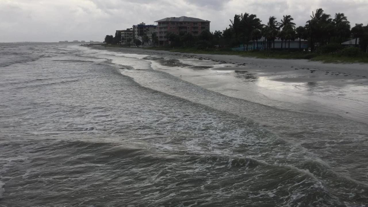 Raw video: Tropical Storm Emily on Fort Myers Beach