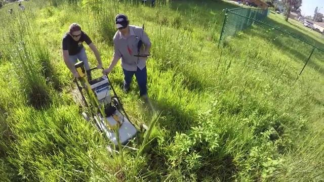 The Department of Environmental Protection had its ground-penetrating radar on the Home-a-rama site Wednesday morning. They are on the hunt for soil differences, or anything that shows how the land was filled in.