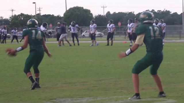 Sights and sounds from Island Coast playing host to North Port in a preseason high school football game.