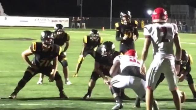 Bishop Verot hosted Cardinal Mooney in a high school football game