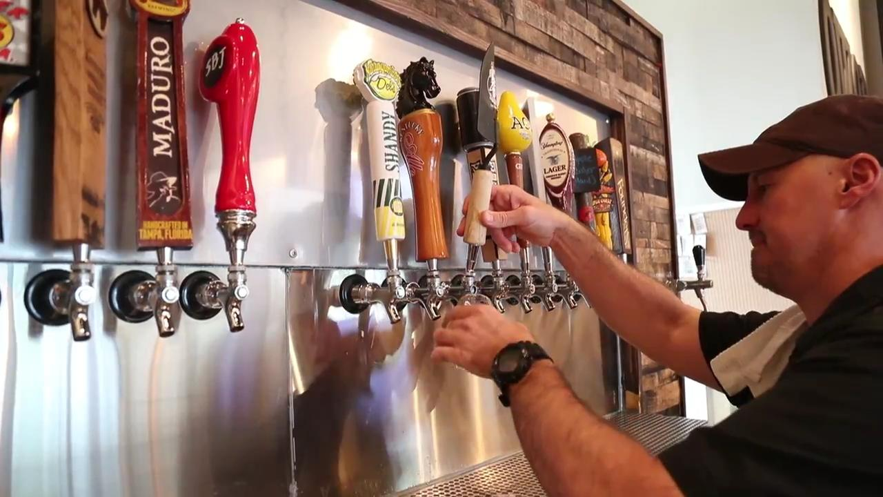 Oil Well Craft Beer is a tasting room in Ave Maria. They don't brew beer onsite, but they serve local beers and have a local brew craft beer exclusively for them.