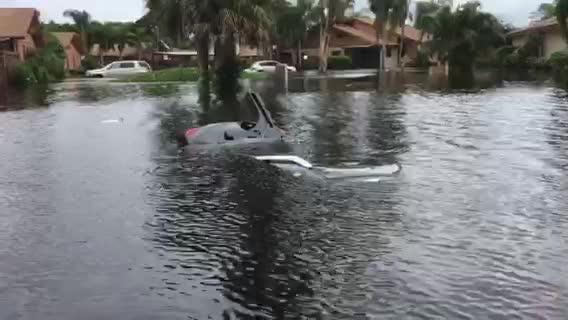 Woman rescued from sinking SUV in Island Park, south Fort Myers