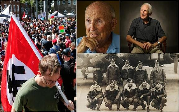 'I cry for my country.' WWII vets condemn neo-Nazis