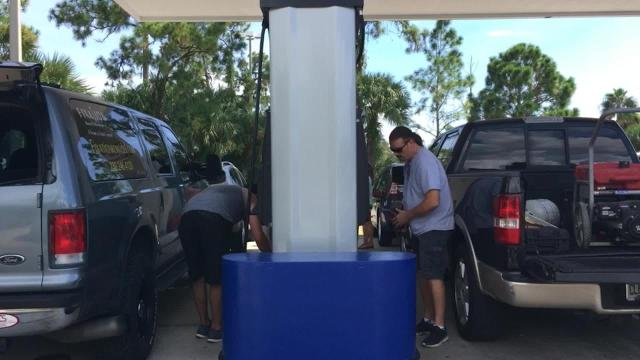 Hurricane Irma: It's hard to find gas and time to board up the windows
