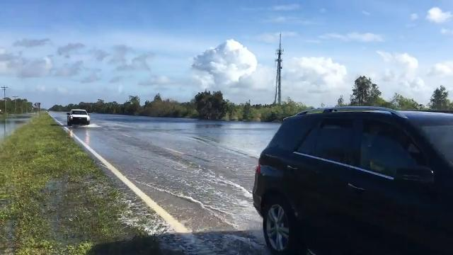 Flooding in north Cape Coral