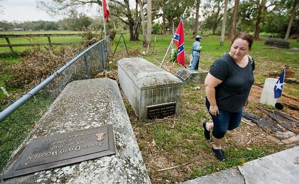 'It's sad.' Cemetery, home to confederate soldiers flooded.