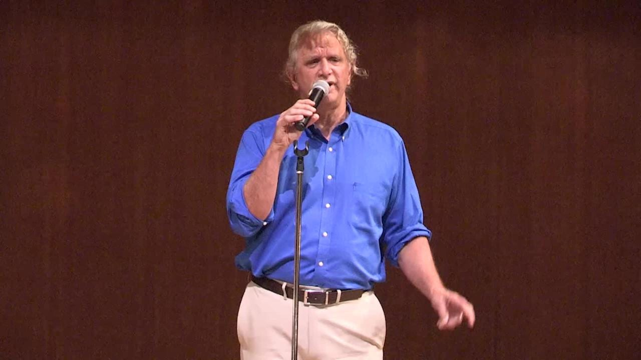 Sheldon Zoldan, content strategist, shares a memorable story from his career during the inaugural Southwest Florida Storytellers Project at the Cape Coral Yacht Club.