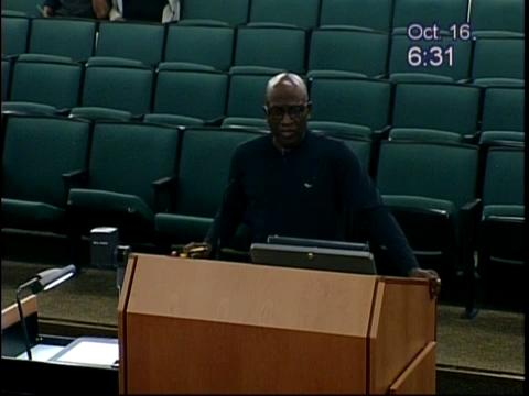 Henry Jackson, the father of suspended police officer Jason Jackson, addressed the Fort Myers City Council on Monday.
