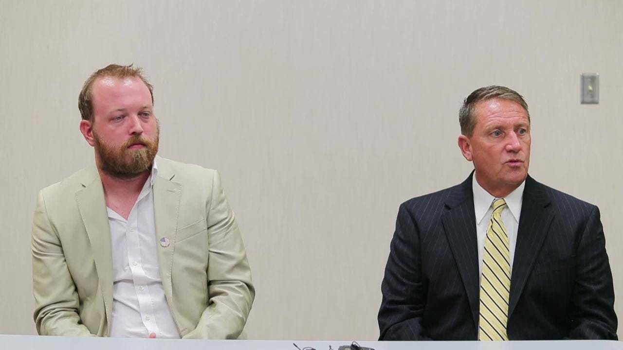 Graham Morris and John Gunter, candidates for Cape Coral Council in District 1, speak to The News-Press.