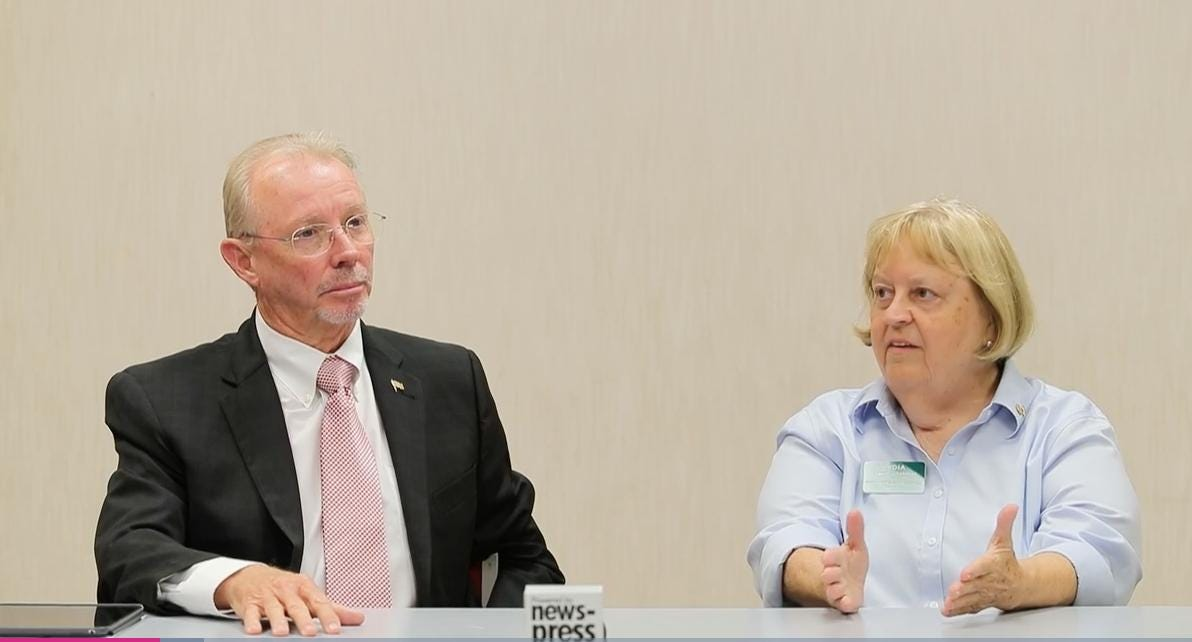 Candidates for Fort Myers City Council Ward 5 Lydia Lowell-Sherman and Fred Burson speak with The News-Press.