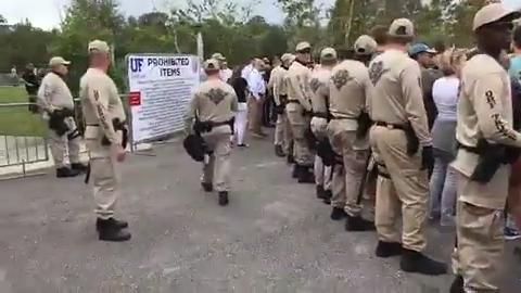 Facebook Live recording: Scene at University of Florida before Richard Spenser talk