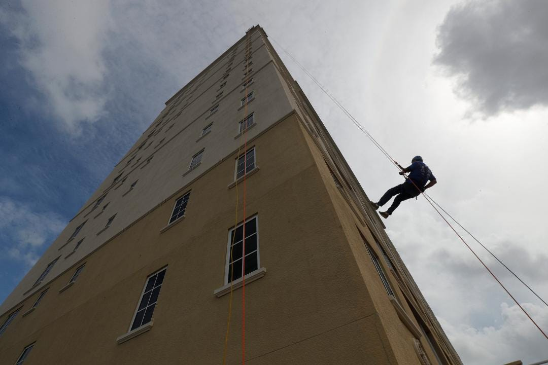 """The Heights Foundation hosted its annual """"Over The Edge Rappelling Event"""" at the Westin Cape Coral Resort at Marina Village this weekend. The goal of the event this year was to collect about $100,000 to assist the center'sSchool Success Programs."""