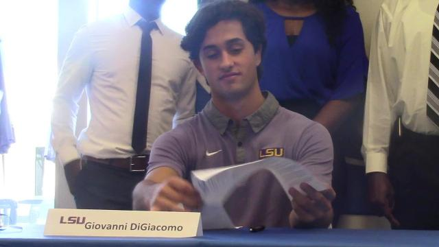 Giovanni DiGiacomo and Berrick Jeanlouis signed off for LSU Baseball and South Alabama Basketball