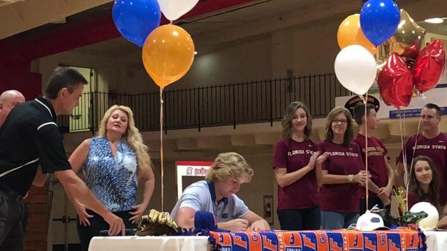 RHP Ben Specht signs with Florida baseball, Lily Tessier inks with Florida State volleyball